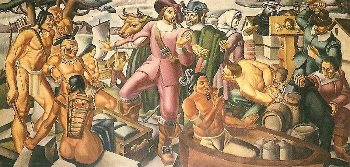 На картине 1937 года обнаружен смартфон?