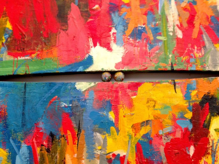Jasper Johns, Painting with Two Balls (1960)