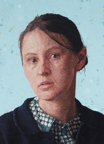 Художница создает гиперреалистичные портреты из пряжи 3