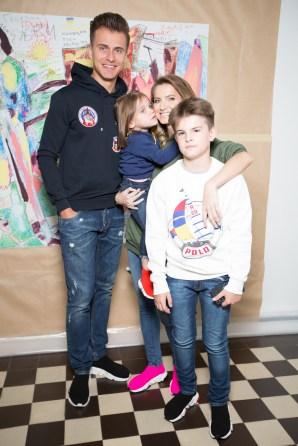 Олександр Скічко та Єлизавета Юрушева з дітьми