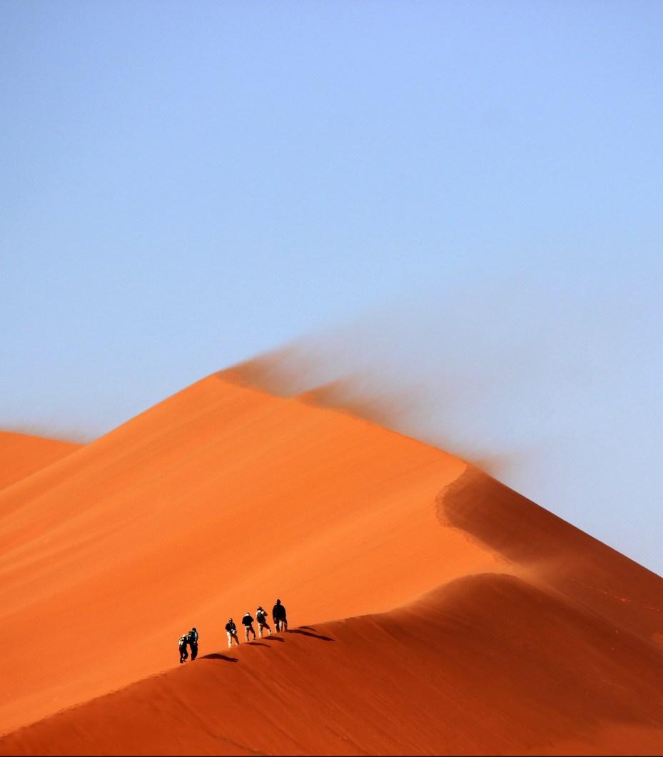 red sand dunes
