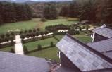 Dal tetto della villa il parco e il paesaggio