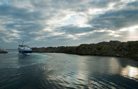 Isola di Utsira, il traghetto per Hagesund parte all'alba