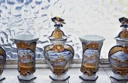 Porcellane antiche colorate