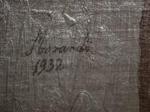 Dettaglio della firma di Morandi