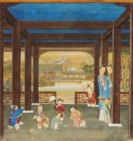 """""""Belle Dame in giardino"""", Dinastia Qing"""