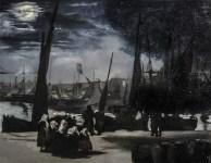 """Edouard Manet """"Chiaro di luna sul porto di Boulogne"""""""