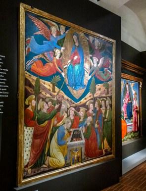 Paolo Schiavo.La Madonna Assunta dona la cintola a San Tommaso al cospetto degli Apostoli