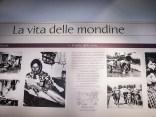 """Tabellone sulla vita delle mondine al Museo Storico Etnografico dell'Attrezzo Agricolo """"L çivel"""""""