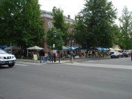 Farmer's Market vendors enjoy visitors during the Taste of Summer