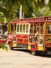 Trolley brings concertgoers to Britt grounds