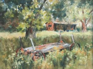 This is by an artist, Marilyn Hurst, who works in many mediums.  We are fortunate to have her as a member of Art Presence.  The April exhibit finds her beautiful pastels in the main gallery.  The Art Presence Art Center will be open during the month of April on Friday, Saturday and Sunday from 11 to 5.