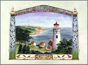 Heceta Head Lighthouse, painting by Katharine Gracey