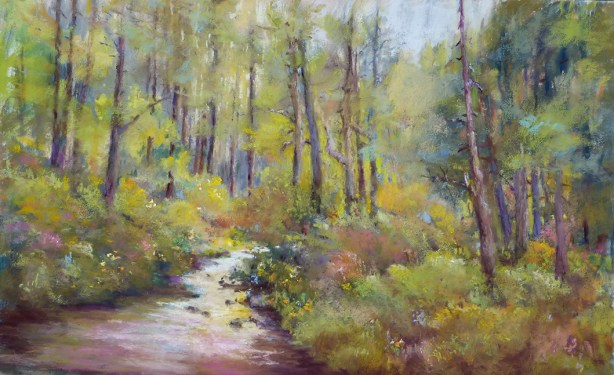 Image of Painting: Jackson Creek, pastel by Steve Bennett