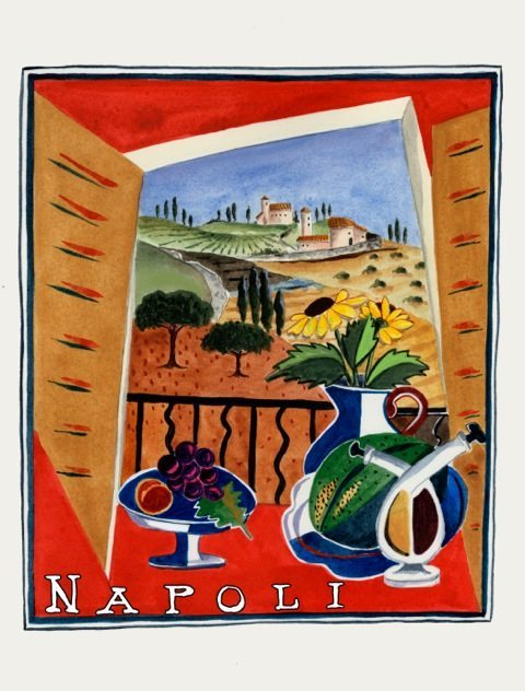 Travel Card NAPOLI by Katharine Gracey