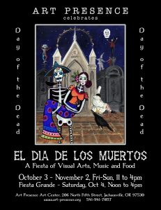 Dia de Los Muertos Day of the Dead 2014 at Art Presence Art Center, Jacksonville, Oregon October 2014