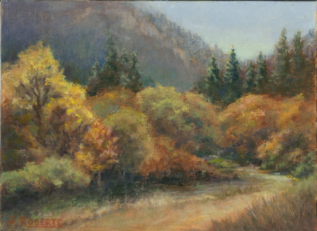 Autumn in the Applegate, oil by Carolyn Roberts