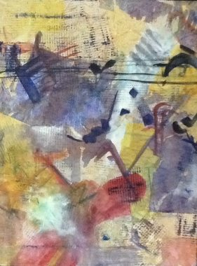 """""""Jazzz"""" Tryptych by Linda Curtis (#1)"""