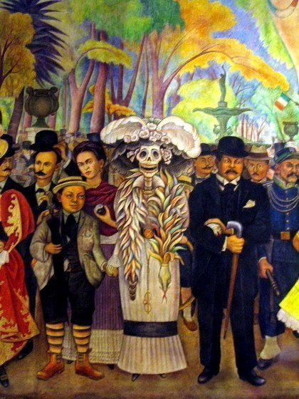 Diego-Rivera_Dream of a Sunday Afternoon in the Alameda Central_Mexican-mural