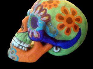 Painted Skull by Tonia Davis