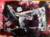 """""""Bone Dancer,"""" painting by Patrick Beste"""