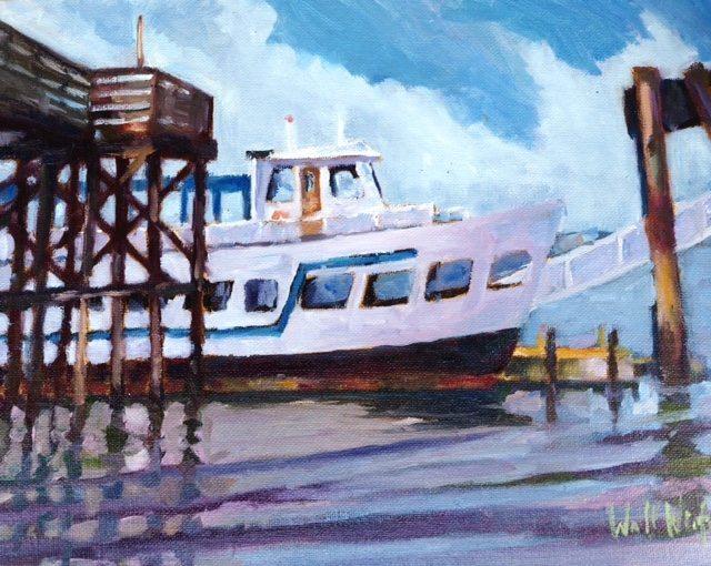 Steilacoom Ferry, oil painting by Walt Wirfs