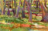 Woodlands I, watercolor painting by Anne Brooke