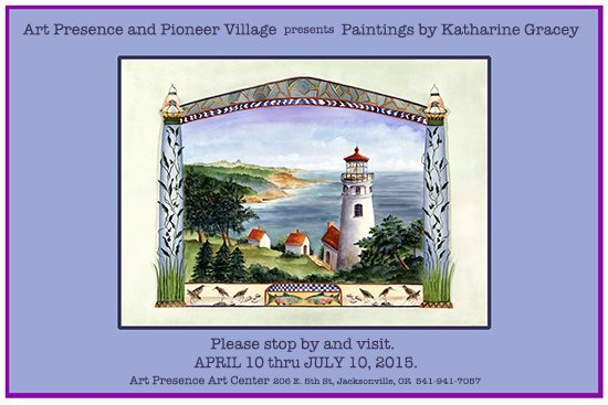 Art Presence and Pioneer Village present paintings by Katharine Gracey April 10 - July 10 2015