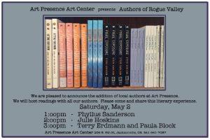 Art Presence Authors Read - May 2015 @ Art Presence Art Center | Jacksonville | Oregon | United States