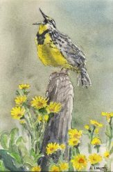 ART'Clectic Artisan's Market at Art Presence Art Center May 2015: Watercolor painting by Tony Laenen