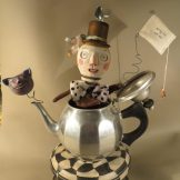 Mad Hatter, assemblage by Leona Keene Sewitsky