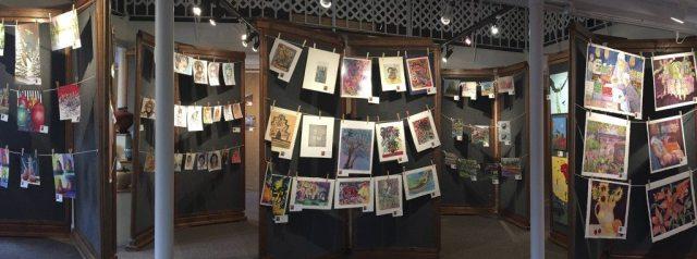 Naked Art 2018 : Naked Art 2017: No Mats, No Frames ~ Great Deals! at Art Presence Art Center, Jacksonville, Oregon. Image by Tom Glassman
