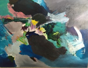 September Art Exhibit : image of Trials of Odin, abstract painting by Patrick Beste