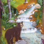 """""""In the Woods,"""" glass art by Jessy Carrara"""