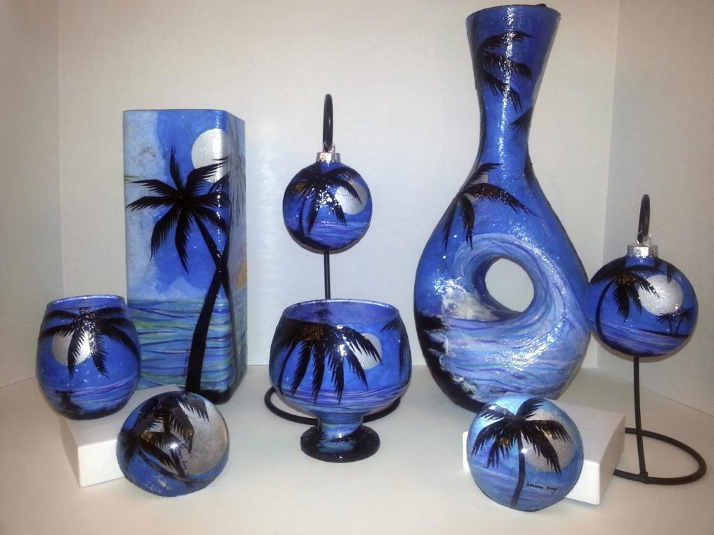 Art'Clectic Garden Party group exhibition: : Glass art by Sheri Croy