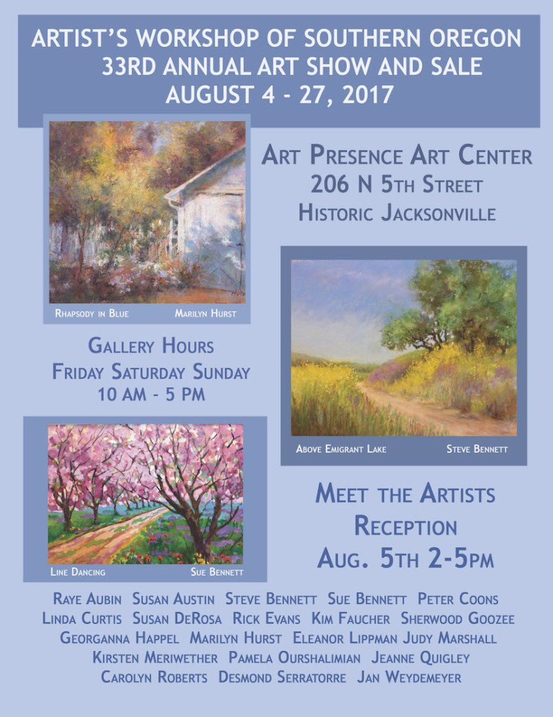 Artists Workshop annual show and sale poster 2017