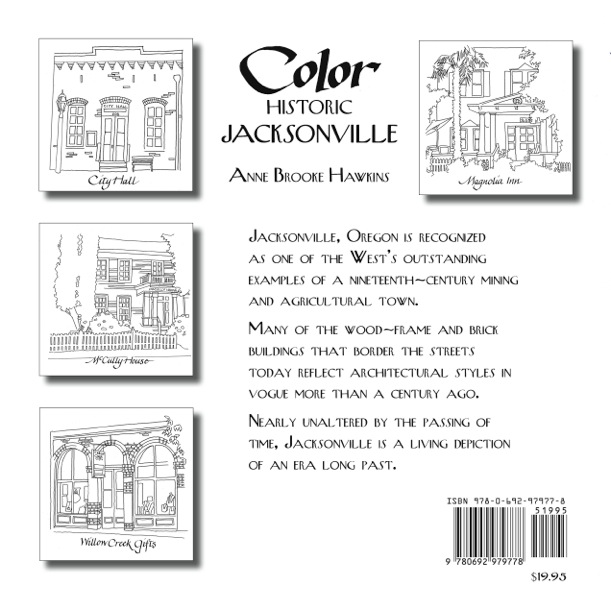 Color HIstoric Jacksonville, newly published coliring book by Anne Brooke - back cover