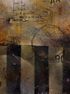The Wall, 36 x 48 mixed media on canvas by Dan Mish