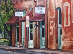 Redmen's Hall, oil painting by Walt Wirfs
