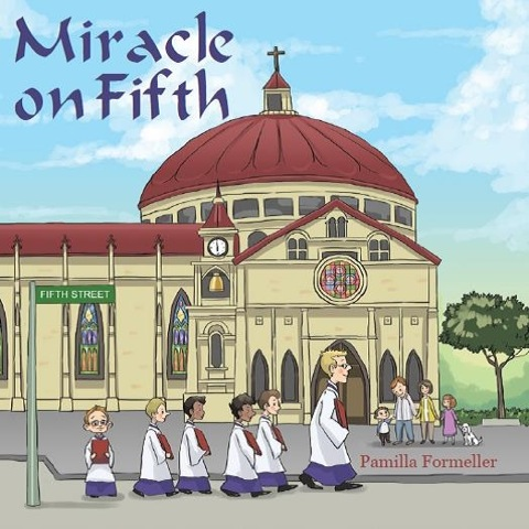 Pam Formeller Author Reading: Image of the cover of Miracle on Fifth, new children's book by Pamilla Formeller