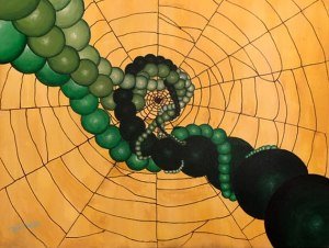 March-April 2019 Guest Exhibit - Oh, What a Tangled Web We Weave, painting by Zoe West