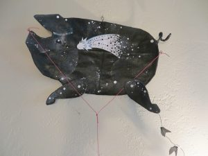 Celestial Journeys: Pigasus, art kite by Leona Sewitsky