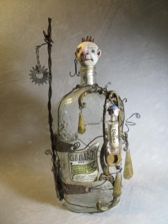 Jack and the Giant, assemblage by Leona Sewitsky