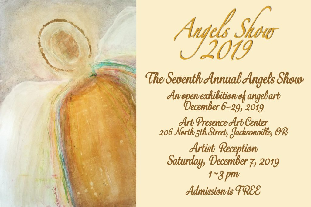postcard for the 2019 Angels Show with details