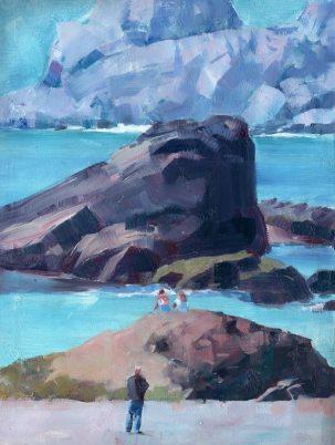 Oregon Coast, watercolor by Desmond Serratore