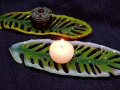 Fused Glass TEalight holders by Debbie Earley