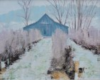Winter, painting by Desmond Serratore - Artists Workshop 2020 show