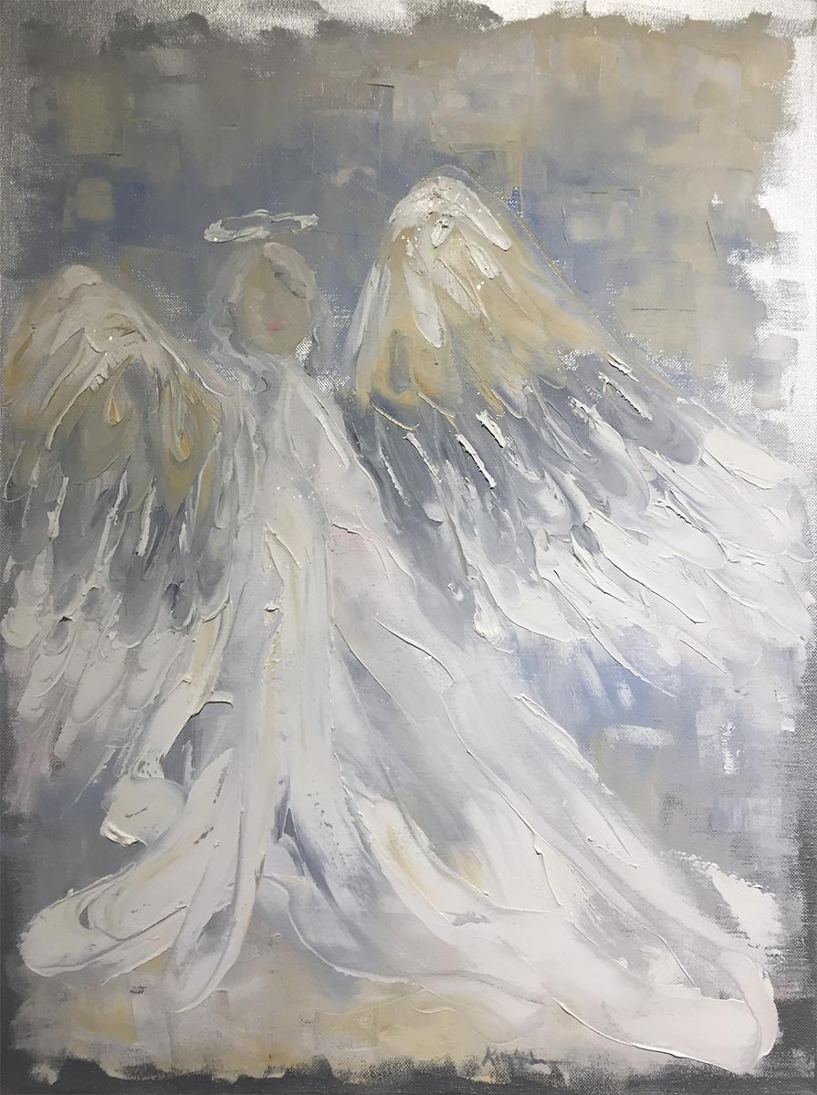 Never Alone, 24 x 18 oil on canvas by Kelly Anderson $200