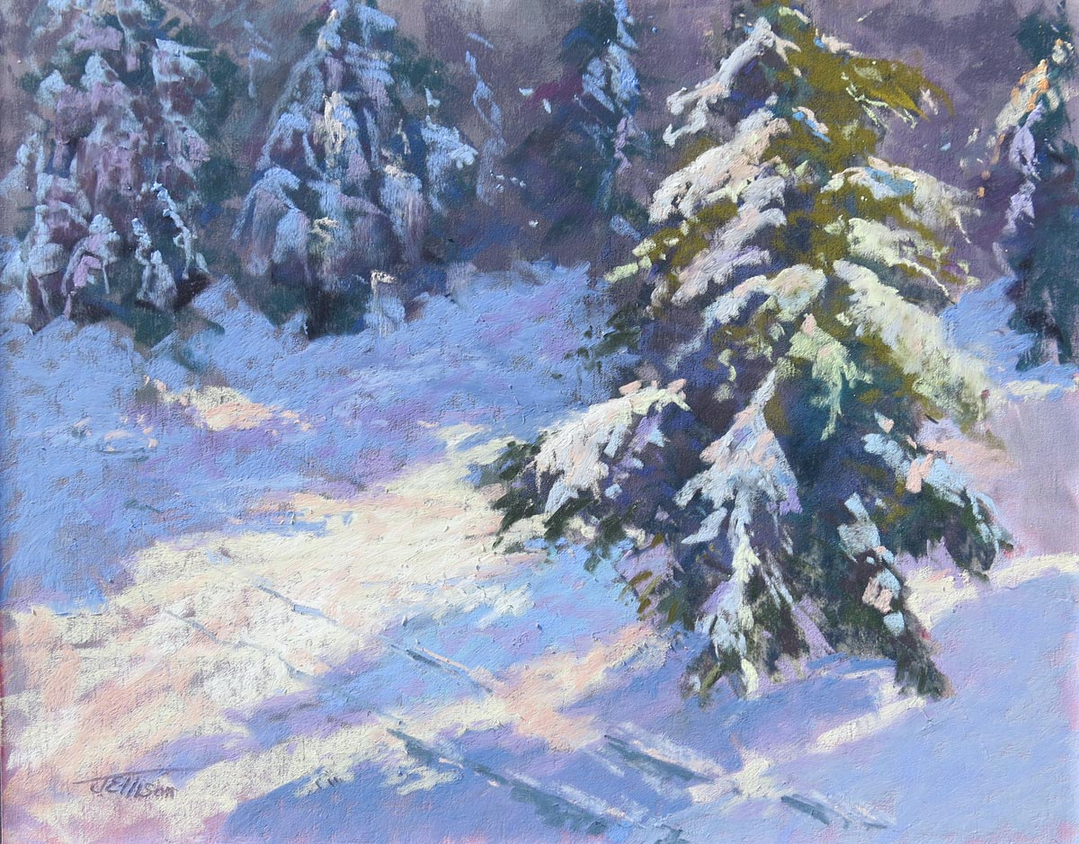 Breaking Through, pastel by Janis Ellison