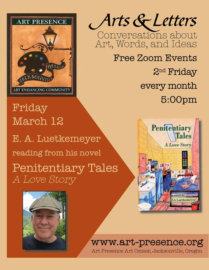 Art & Letters March 12 Author Reading:  EA Luetkemeyer